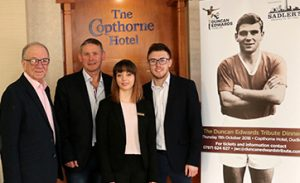 SADLER'S TO SPONSOR DUNCAN EDWARDS TRIBUTE DINNER