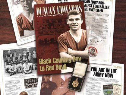 SIR BOBBY CHARLTON IS SUPPORTING THE DUNCAN EDWARDS TRIBUTE