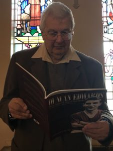 COPIES OF THE NEW DUNCAN EDWARDS BOOK DONATED TO ST FRANCIS PARISH CHURCH